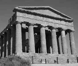 photo of a classical Greek temple